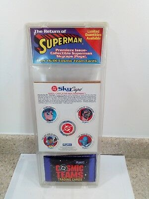 Vintage 1993 The Return Of Superman Sky Caps And Trading Cards Skybox DC NEW