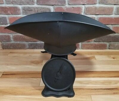 "Antique Tin Triner Pan/Scoop Scale ""Perfection Family Scale"" Chicago USA 1906"