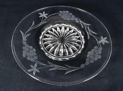 Antique Regency/William IV Engraved Glass Ice Plate c1830