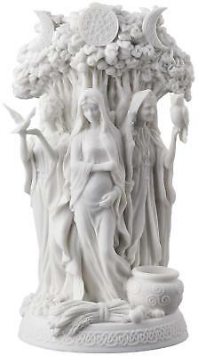 Celtic Triple Goddess Maiden Mother Sculpture And The Crone White Statue