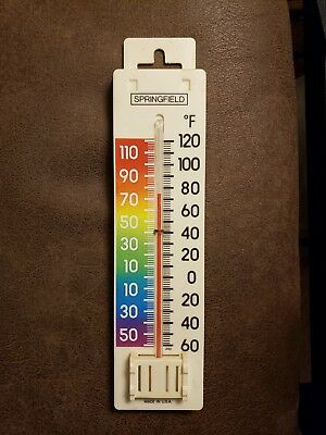 Vintage Springfield Rainbow Thermometer Made In USA Model 7203