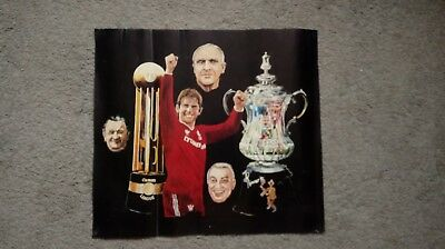 Vintage Liverpool F.c.  1986 Double Winners  Poster