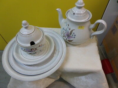 DENBY LORRAINE - PLATES, TEA POT, COVERED SUGAR, CUPS - please choose from menu
