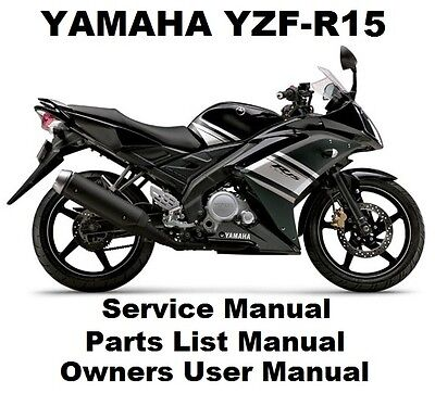 YAMAHA YZF-R15 150 Owners Workshop Service Repair Parts List Manual PDF on CD-R