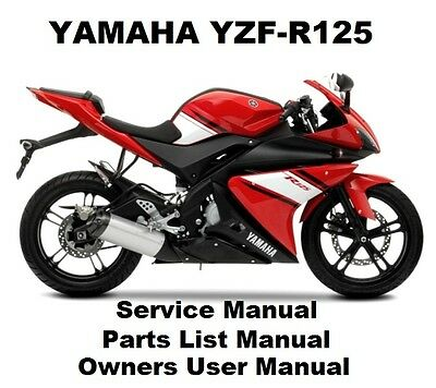 YAMAHA YZF-R125 125 Owners Workshop Service Repair Parts List Manual PDF on CD-R