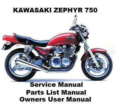ZEPHYR 750 ZR Owners Workshop Service Repair Parts List Manual PDF on CD-R ZR750