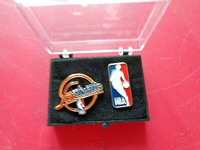 Vintage Fantastic and Jerry West NBA LOGO Pin Lot of 2 Free Shipping !!! BLK.