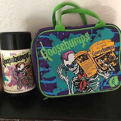 Goosebumps Plush Lunchbox Vintage 90's w/ Thermos