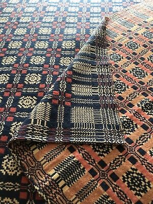 Vintage Wool Coverlet Blanket Bedspread 82 X 92 Excellent Condition Gorgeous