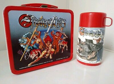 Vintage Thundercats 1985 Aladdin Lunch Box W/Thermos. Very Nice Thermos