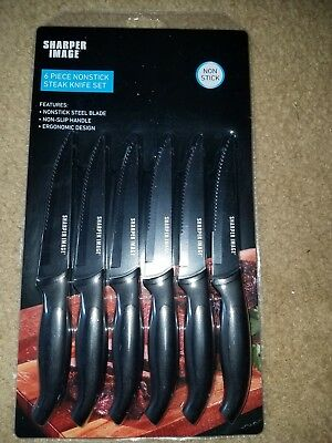 The Sharper Image 6 Piece Non Stick Steak Knife Set Brand New In Package!