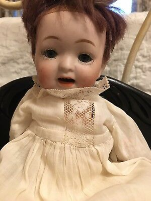 "Antique Morimura Brothers 10"" Bisque Head Character Baby Doll  MB2/0"