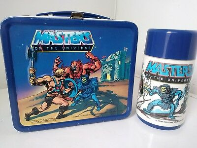 Vintage Masters Of The Universe 1983 Alladin Lunch Box W/Thermos. Very Nice!