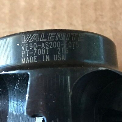 """Valenite 2"""" Indexable Facemill VF90-AS200-F075 5 INSERT"""