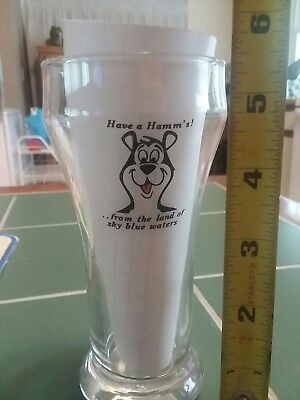 Limited edition Rare 1960's.       Hamms Beer glass .. Mint