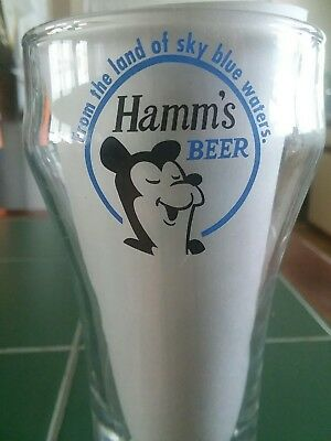 1950's Rare Limited edition Hamms Beer Glass