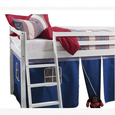 BED TENT CURTAIN ONLY for Kids Bedroom Single Mid Sleeper Cabin Bunk Bed