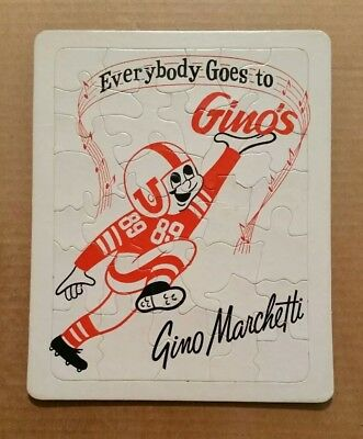 """Everybody Goes To Gino's"" Gino Marchetti's Restaurant,Jigsaw Puzzle,1950's-60's"