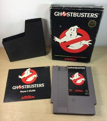 Ghostbusters Nintendo NES 1984 Complete w Box Manual Tested