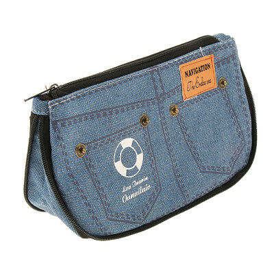 Creative Denim Shorts Shaped Pencil Case Pen Makeup Bag Pouch, Stationery