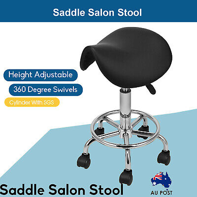 Saddle Salon Stool Massage Barber Hairdressing Swivel Chair Hydraulic Lift AU