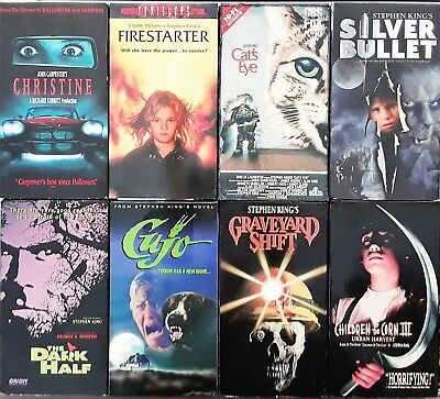 Stephen King Lot (8 Vhs) Cats Eye, Graveyard Shift, Cujo, Christine, Etc. Horror