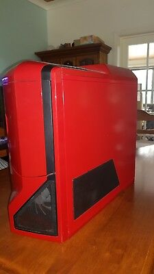 NZXT Mid sizer Tower case Red/black