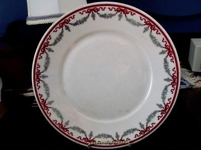 EARLY SHENANGO CHINA PLATE - SWAGS & BOWS - MADE FOR HOTEL PIERRE - 1930s