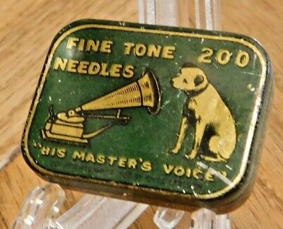 """Vintage RCA Victor Victrola 200 Needle Tin-Nipper Dog-""""His Master's Voice"""""""