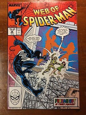 WEB OF SPIDER-MAN #36 (1988) Marvel Comics - 1st Tombstone Appearance! NM & WP!