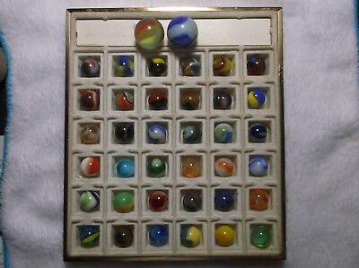 Very Nice Lot of Antique / Vintage Marbles With 2 Shooters