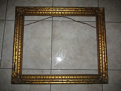 Vtg/Antique OLD Ornate Picture/Canvas Wood Painting Frame