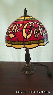 """Coca Cola Tiffany Style Stained Glass Acrylic Electric Table Lamp 15"""""""