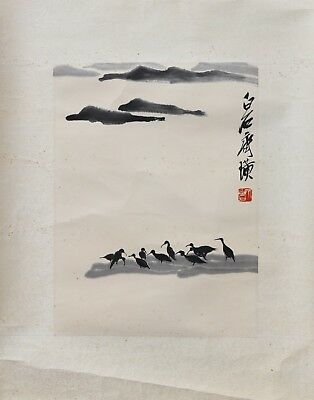 A Chinese Ink and Color Scrolling Painting, Attribute to Qi Baishi