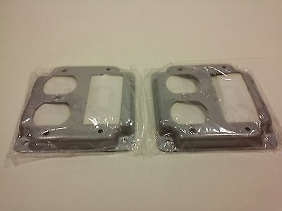 """Raised Covers, 1 GFCI/1 Duplex Receptacle-For 4"""" Square Electrical Box(Lot of 2)"""