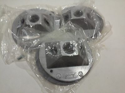 """4"""" Round Cast Galaxy Covers W/3 Holes - for Weatherproof Outlet Boxes (Lot of 3)"""