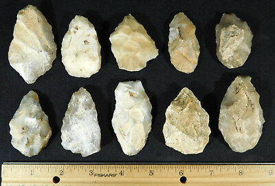 A Lot of 55,000 to 12,000 Year Old Early Man Aterian Artifacts Algeria! 307gr e