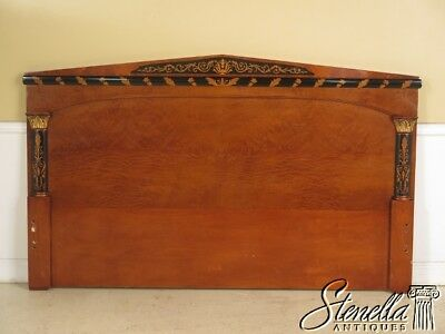 29444EC:  COLOMBO Italian Made Burl Walnut King Size Bed Headboard