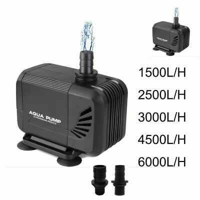 1500/2500/3000L/H Submersible Fish Water Pump Pond Tank Waterfall Fountain Sump