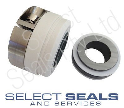 "Type 10T PTFE Bellows Mechanical Seal - 1 1/4"" Shaft Size - Carbon vs Ceramic"