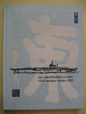 1963-1964 USS CONSTELLATION CVA-64 Cruise Book Westpac Vietnam US Navy Roster