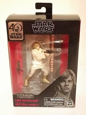 2017 Star Wars The Black Series 3.75 Titanium Series #03 Luke Skywalker