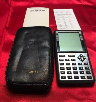 Vintage Sporty's Digital E6B  Electronic Flight Computer~Aviation~working~Extras