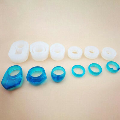 6Pcs Silicone Mold Jewelry Rings Resin Casting Mould For DIY Craft Making Kit