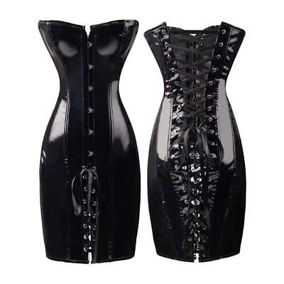 Dominatrix Deluxe Black corset dress with g string Adult fun BDSM play