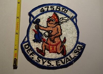 Extremely Rare 1950's 4758th Defense Systems Evaluation Squadron Patch. RARE!!!