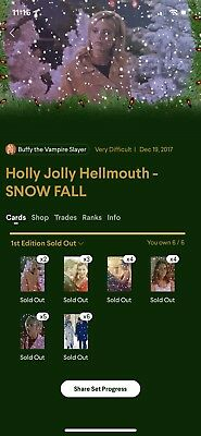 Quidd Buffy The Vampire Slayer Holly Jolly Hellmouth Snow Fall Complete Set