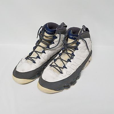 ba2098b6f3e6 Nike Air Jordan 9 IX Retro White French Blue Flint Gray Shoes 302370-141  Size