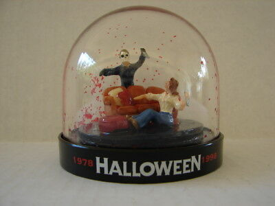 Rare Empty 1998 Michael Myers Halloween Snow Globe Dome 20Th Anniversary #10435