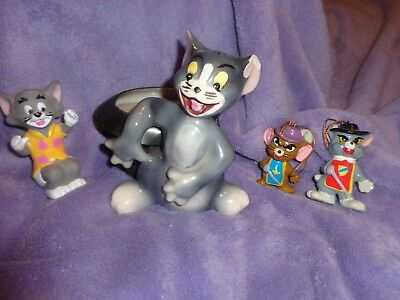 Lot Of  4 ~ Tom And Jerry Figures~ Coventry, Ornaments & Rubber Figure